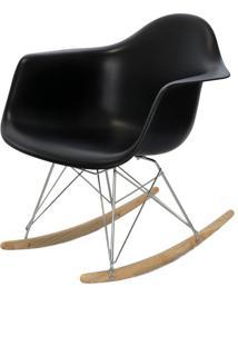 Cadeira Oia Decor Balanço Preto