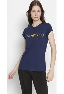 """Blusa """"The Polo""""- Azul Marinho & Amarela- Club Polo Club Polo Collection"""