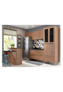 Cozinha Completa Multimóveis Com 6 Peças Calábria 5463 Nogueira