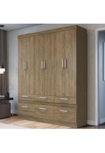 Guarda-Roupa Casal 6 Portas 6 Gavetas Rp3660 Wood - Decibal Móveis