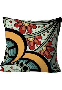 Capa Para Almofada Mdecore Mandala Colorido 35X35