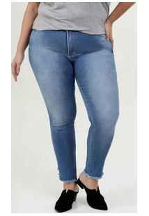Calça Feminina Jeans Skinny Plus Size Razon