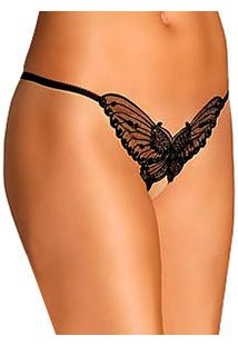 Fio Dental Leg Avenue (2600/2600Q) Butterfly Crotchless Thong