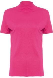 Blusa Feminina Gola Alta Jess Color - Rosa