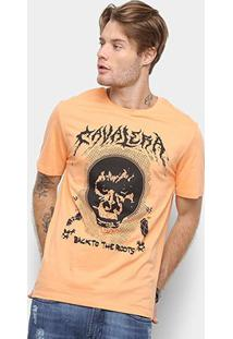 Camiseta Cavalera Back To The Roots Masculina - Masculino-Laranja