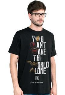 Camiseta Liga Da Justiça Dc Comics You Can'T Save Color Bandup! Masculina - Masculino-Preto