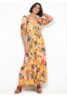 Vestido Longo Frutadinha Rosa