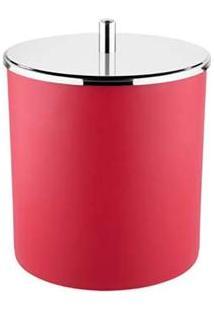 Lixeira Brinox 3400/222 Tampa Basculante Vermelha - 5,4 Litros
