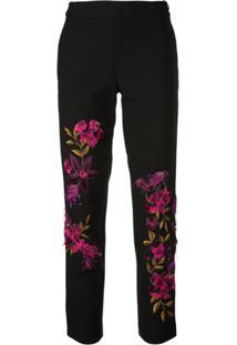 Josie Natori Calça Com Bordado Floral - Estampado
