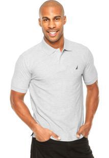 Camisa Polo Nautica Logo Cinza
