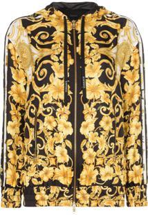 Versace Jaqueta Com Estampa Barroca - Amarelo