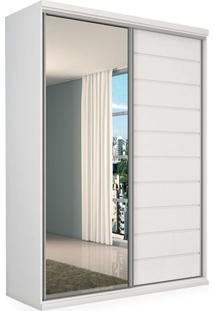 Guarda-Roupa 2 Portas De Correr Com Espelho, Branco, Donato