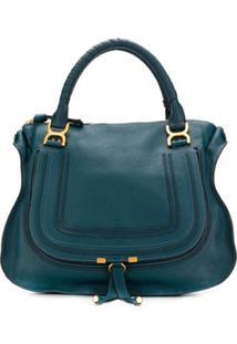 Chloé Marcie Satchel Bag - Azul