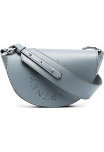 Stella Mccartney Bolsa Tiracolo Stella Com Logo - Azul