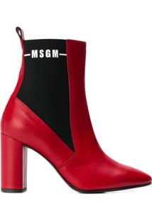 Msgm Ankle Boot - Vermelho