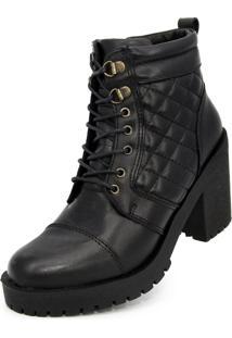 Bota Cano Curto Over Boots Valentina Preta