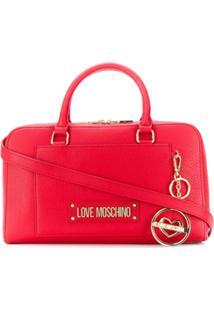 Love Moschino Bolsa Tote Com Placa De Logo - Vermelho