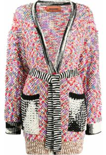 Missoni Cardigan Com Mix De Padronagens - Neutro