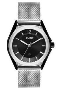 Relógio Euro Color Mix Geometric Feminino - Feminino-Prata