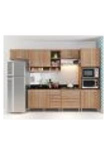 Cozinha Compacta Com Aéreos, 1 Armário Para Forno/Micro-Ondas E Balcões Para Pia/Cooktop - Argila