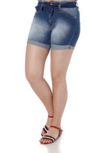 Bermuda Naraka Clochard Jeans Feminina - Feminino-Azul