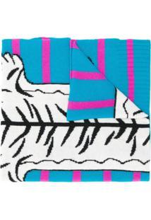 Ultràchic Echarpe Animal Print - Azul