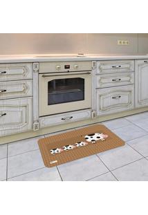 Tapete De Cozinha Mdecore Vaquinha Marrom 40X60Cm