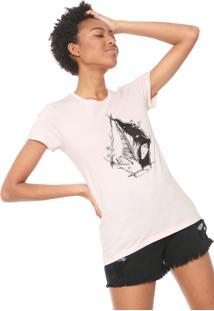 Camiseta Volcom Twigs Rosa
