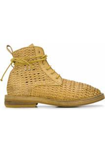 Marsèll Ankle Boot Trançada - Amarelo