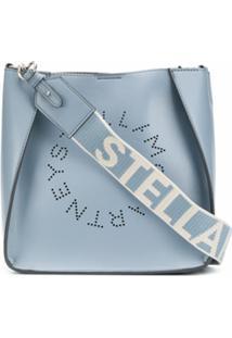 Stella Mccartney Bolsa Tiracolo Com Logo Perfurado - Azul