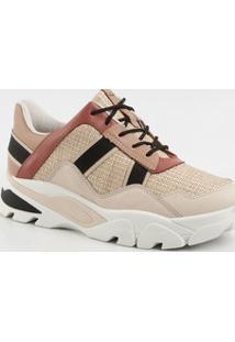 Tênis Feminino Sneaker Textura Dakota