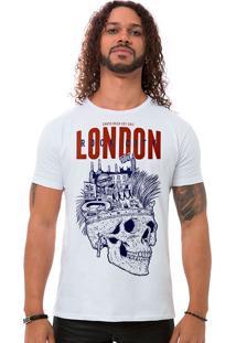 Camiseta Masculina London Rock City Branco B