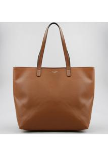 Bolsa Shopper Feminina Com Alça Fixa Caramelo - Único