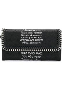 Stella Mccartney Carteira Continental Falabella X The Beatles All Together Now - Preto