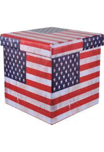 Puff Panosul Desmontável Organizador Box Vermelho