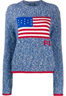 Polo Ralph Lauren American Flag Knit Jumper - Azul