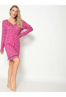 Camisola Pã¡Ssaros- Pink & Off White- Jogãªjogãª