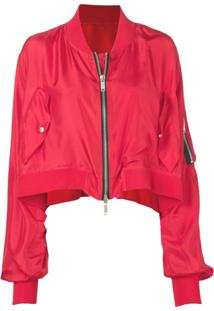 Unravel Project Jaqueta Bomber Cropped - Vermelho
