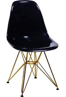 Cadeira Eames Base Cobre Preta