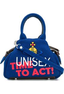 Vivienne Westwood Bolsa Tote Com Slogan - Azul