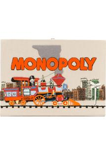 Olympia Le-Tan Clutch 'Monopoly Train' Retangular - Neutro