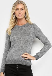 Suéter Tricot Fast Glam Feminino - Feminino-Cinza