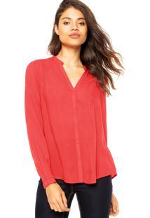 Camisa Cantão Bolso Vermelha