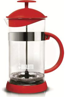 Cafeteira French Press Bialetti Basic Vermelha - 1L
