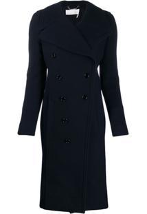 Chloé Double-Breasted Coat - Azul
