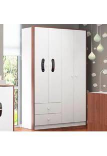 Guarda Roupa 2689 Milk Shake – Multimóveis - Carvalho Avela / Branco Premium