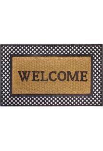 Capacho Kapazi New Welcome Fibra De Coco 45X75Cm - 30485