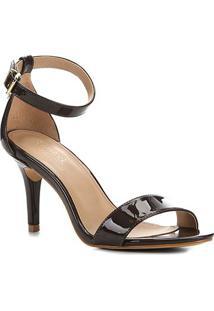 Sandalia Shoestock Salto Alto Naked Feminina - Feminino-Cacau