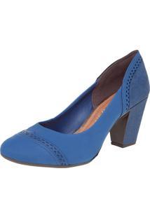 Scarpin Dakota Salto Grosso Azul