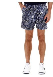Shorts Folhagem Masculino Ocean Bay - Azul